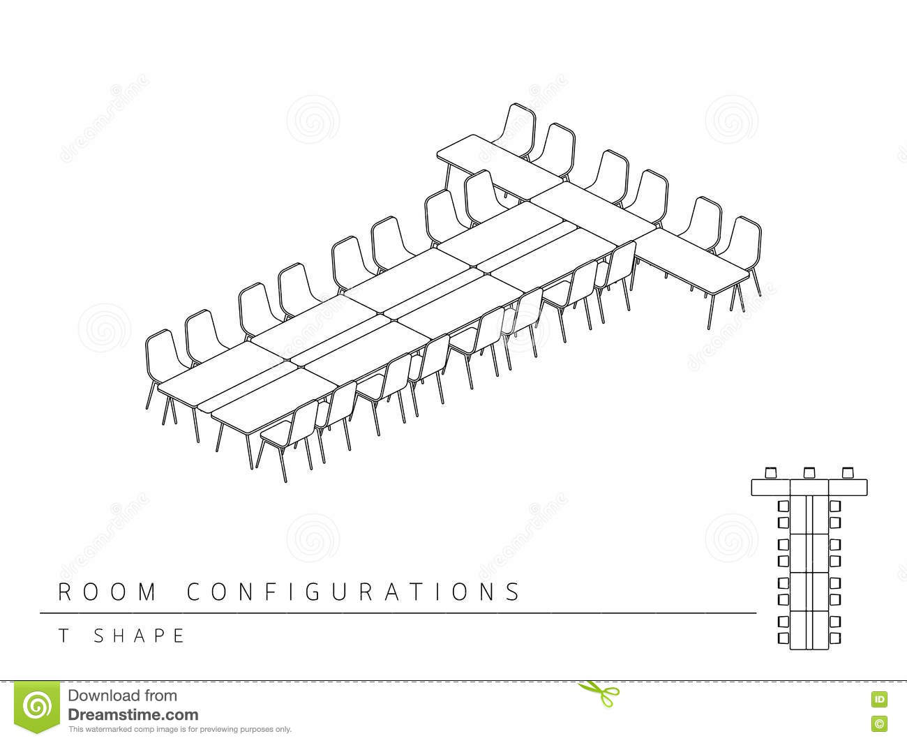 Meeting Room 3d Coloring Pages