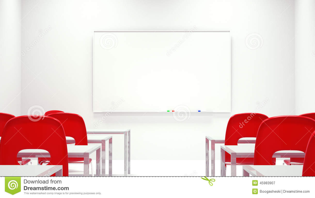 Modern Classroom Certified Trainer ~ Meeting room white board stock illustration image