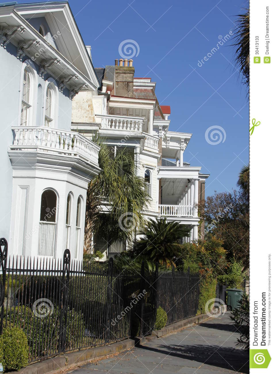 Meeting street charleston stock image image of property for Builders in south carolina