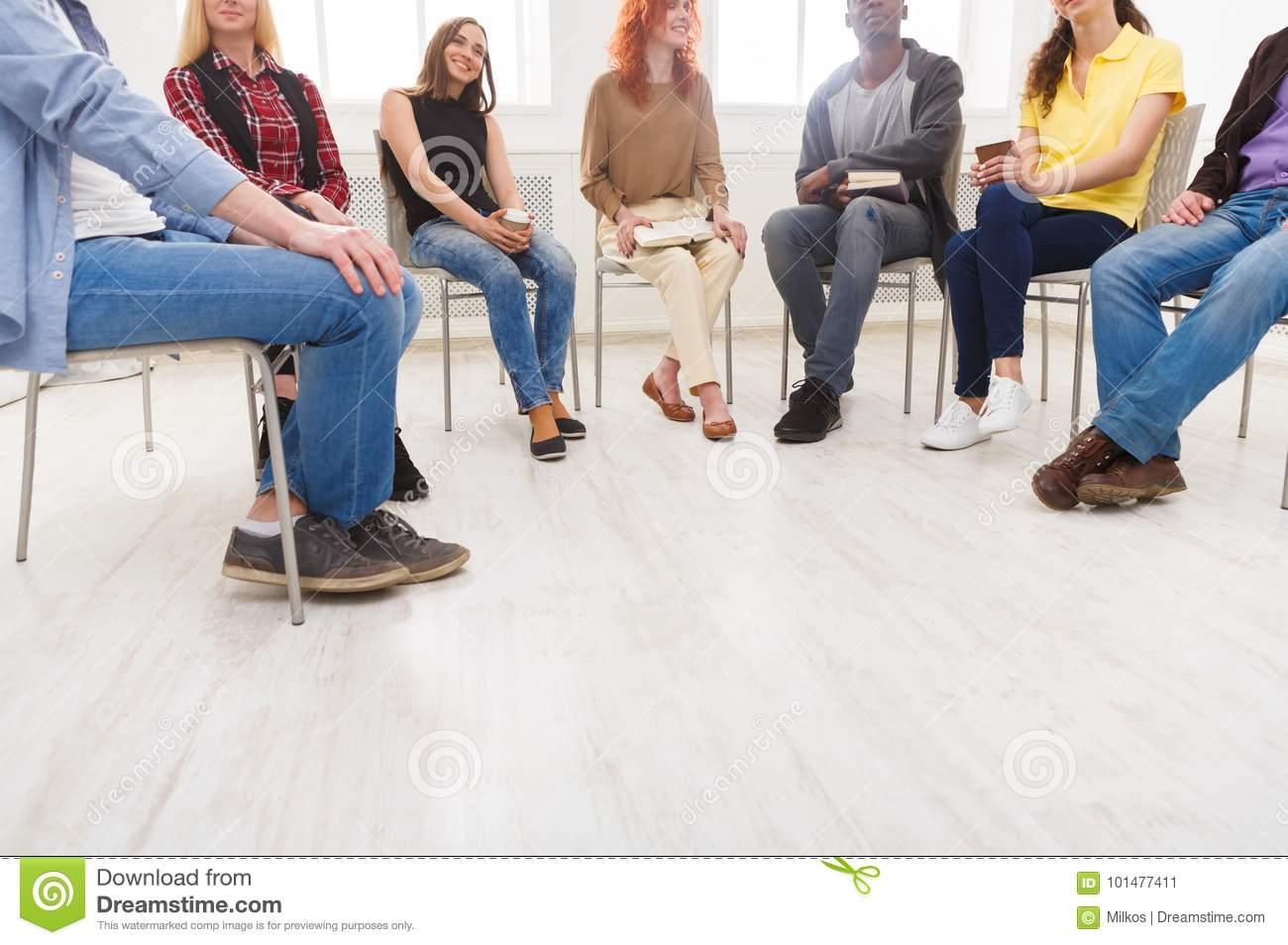 Meeting of support group, copy space