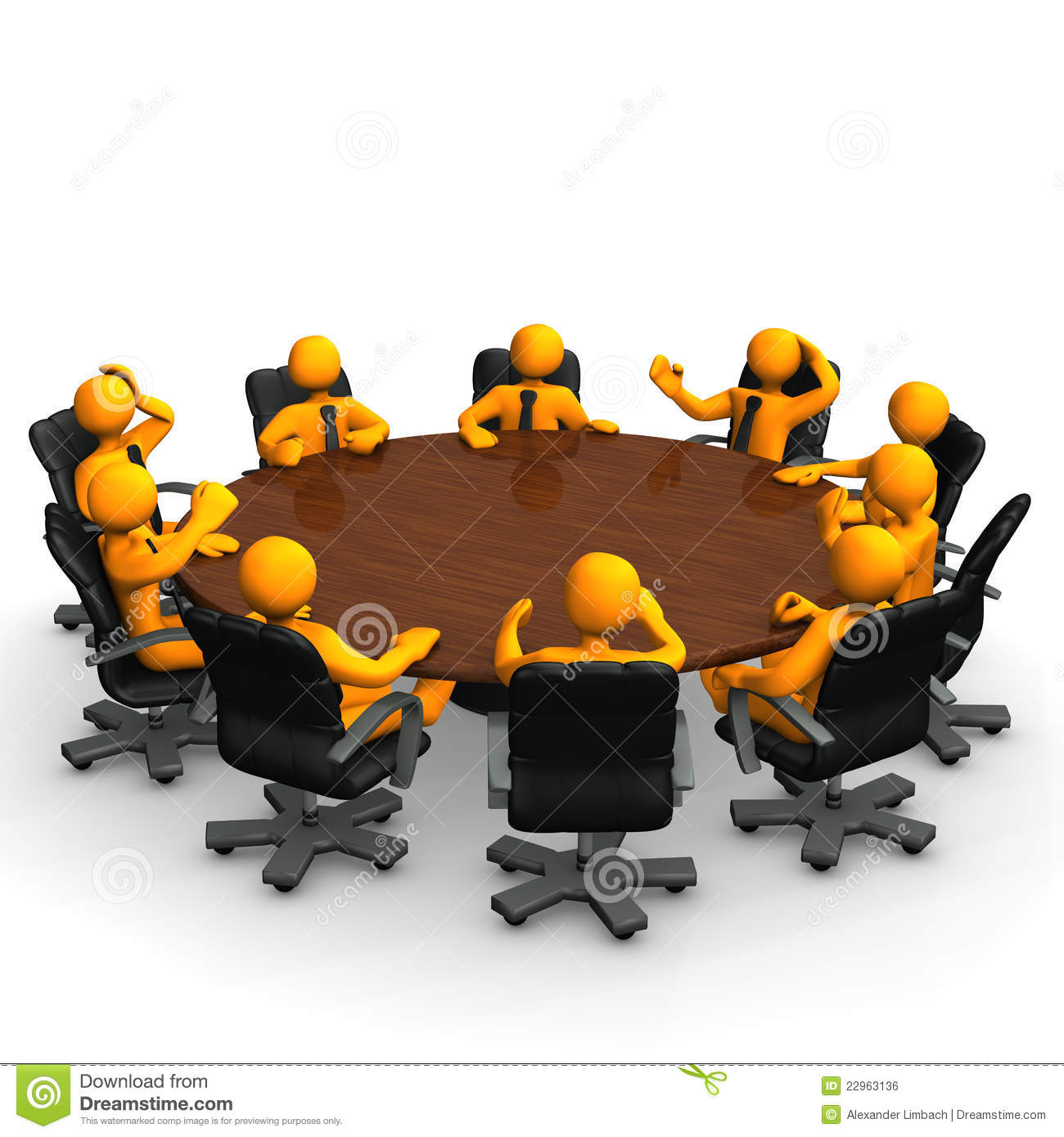 Meeting Table Royalty Free Stock Image - Image: 22963136 Z Table Chart