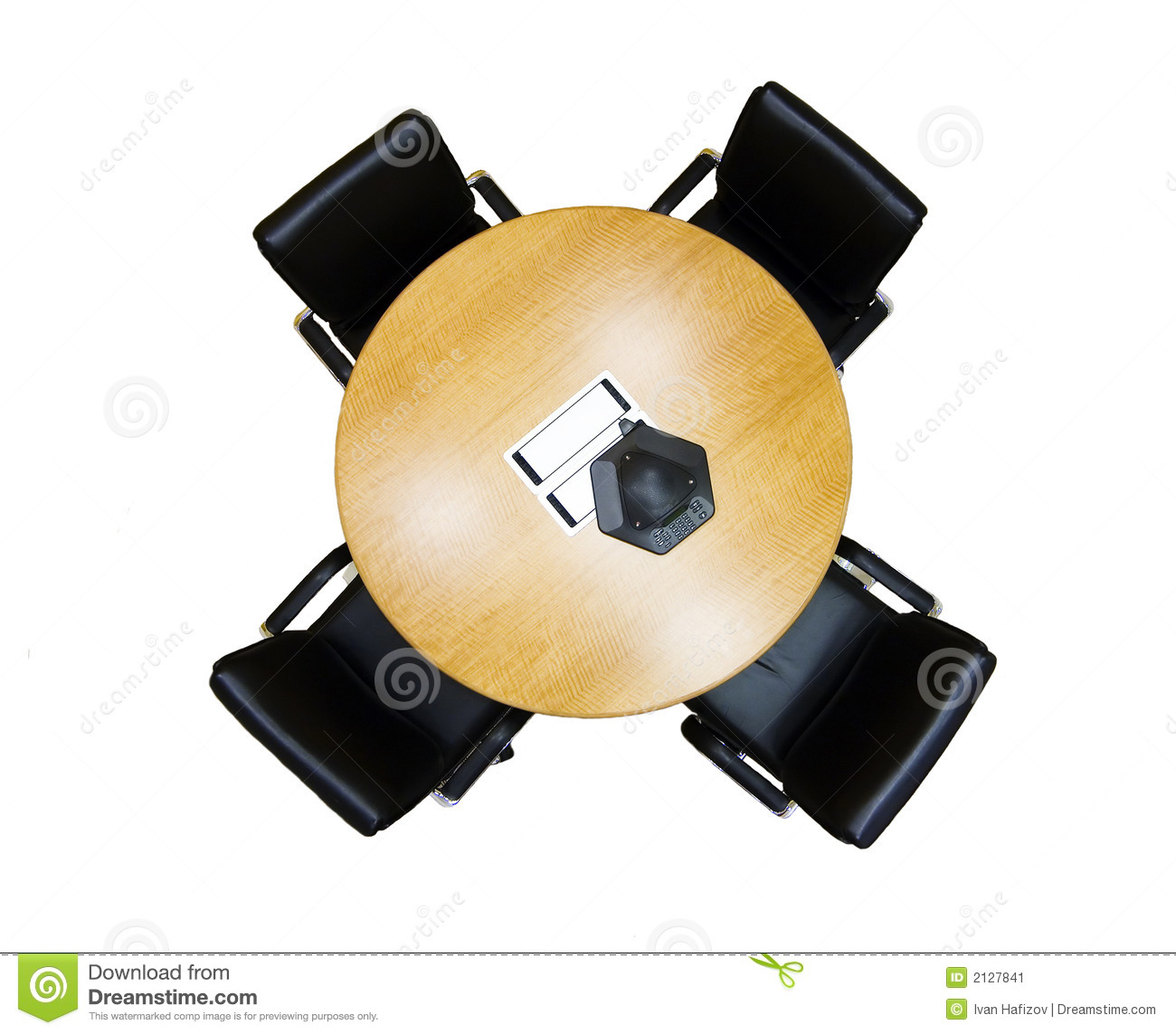 Meeting Table From Above Stock Image Image 2127841