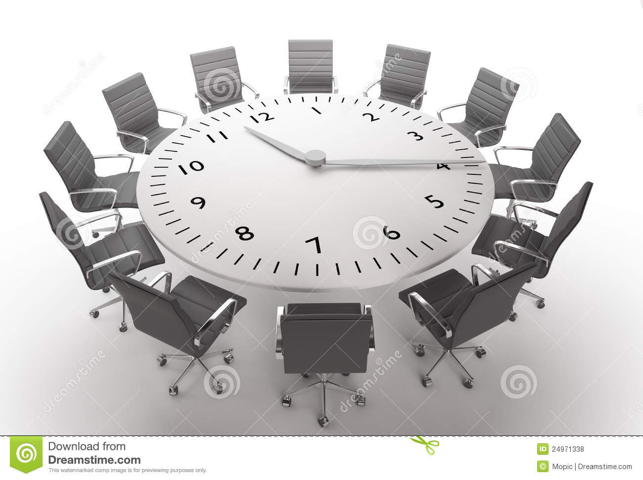 Meeting Time Stock Illustration Illustration Of Chair