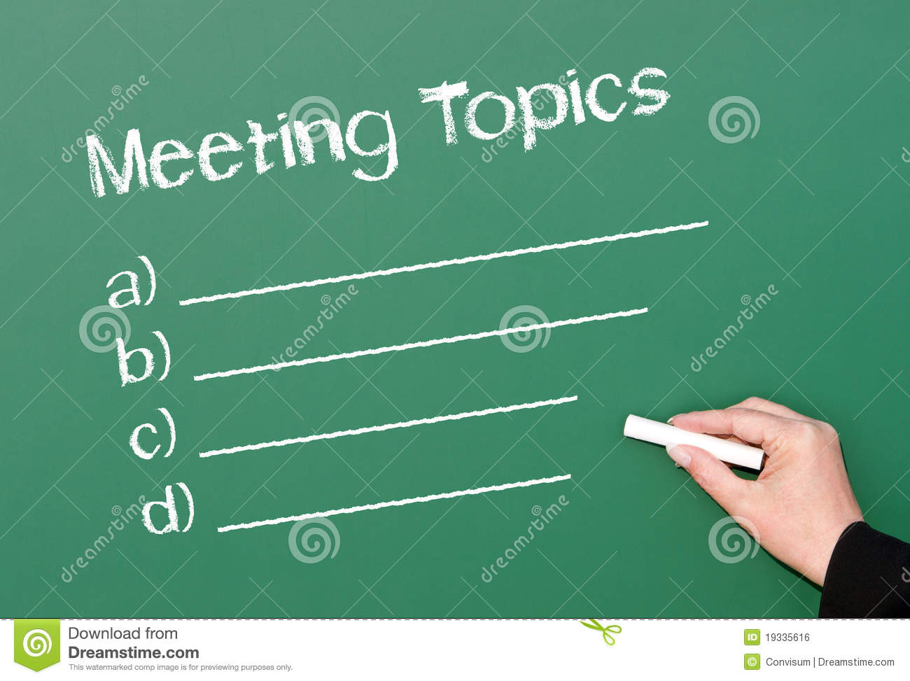 how to write agenda for meeting