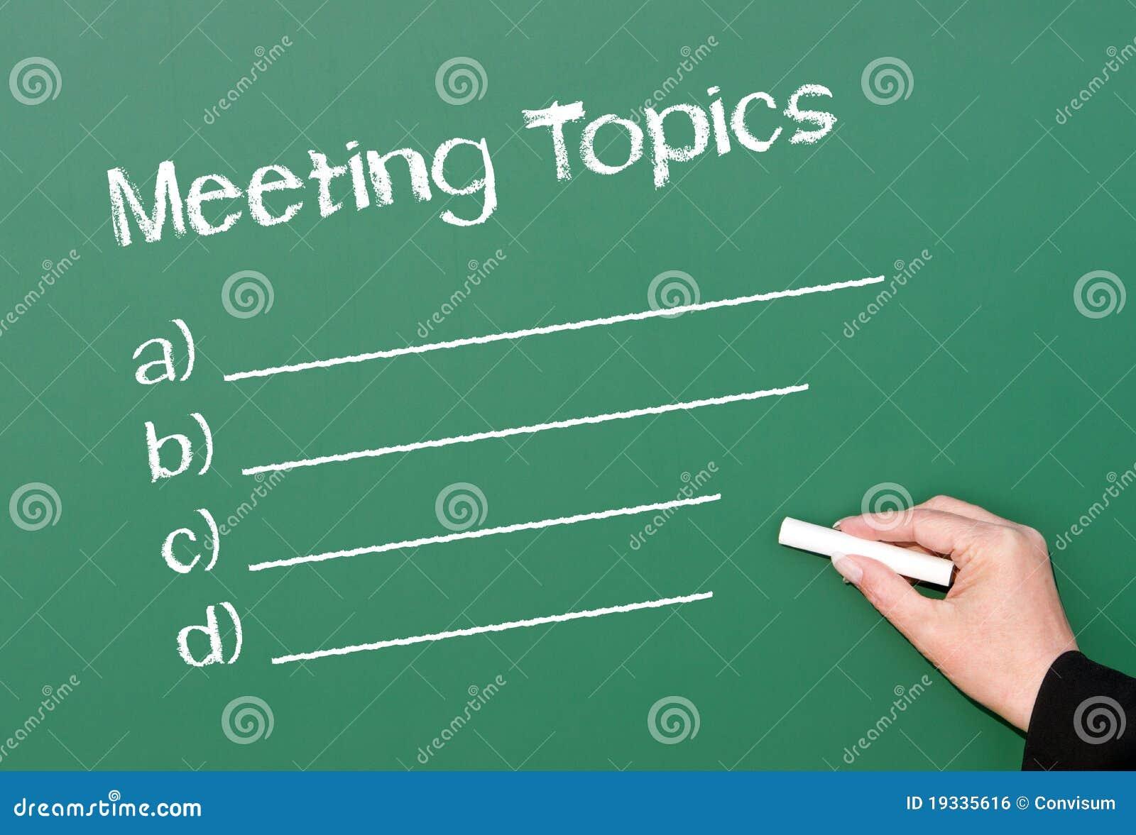 Meeting Topics Royalty Free Stock Image Image 19335616
