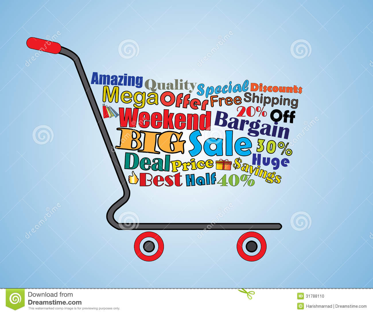 Big Sales This Weekend: Mega Or Big Weekend Sale Shopping Cart Banner Stock