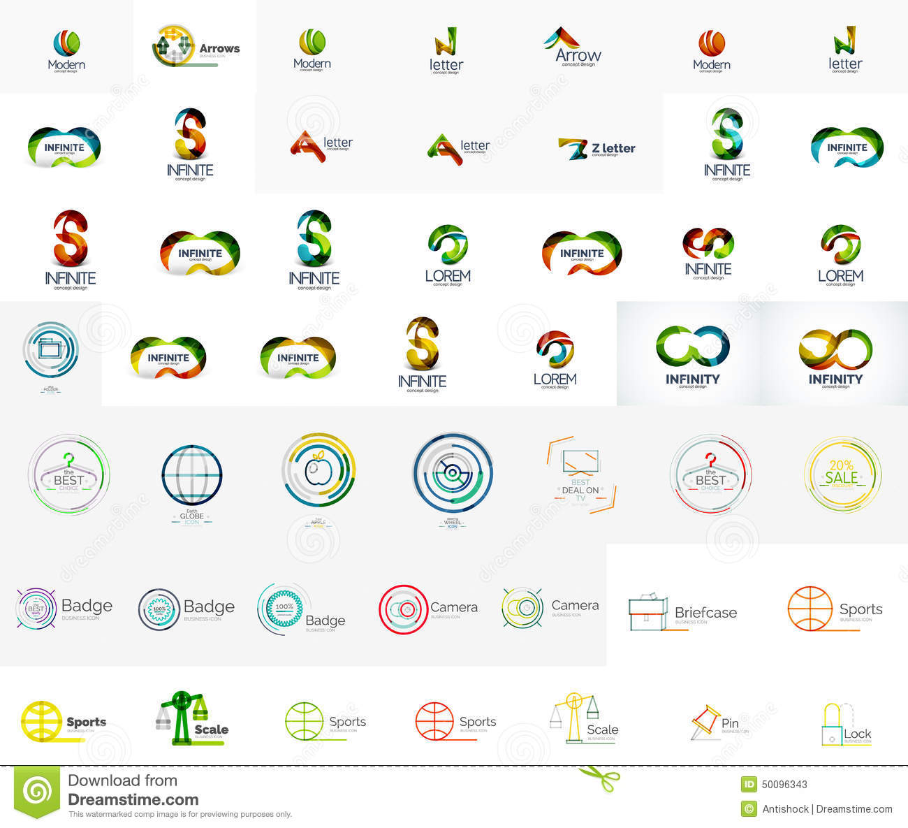 Mega collection of abstract company logo designs stock for Designing company