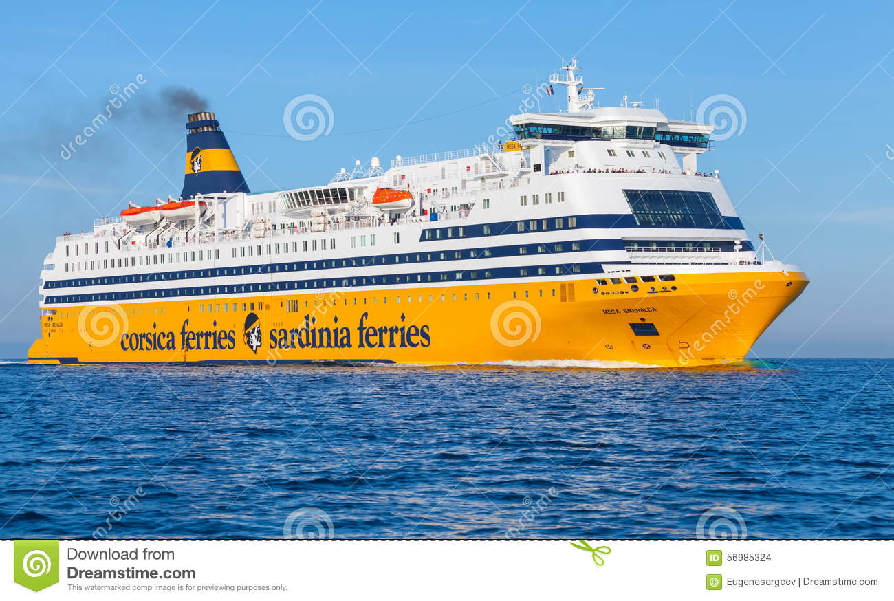 mega express ferry big yellow passenger ship editorial stock image image of corsica harbor. Black Bedroom Furniture Sets. Home Design Ideas