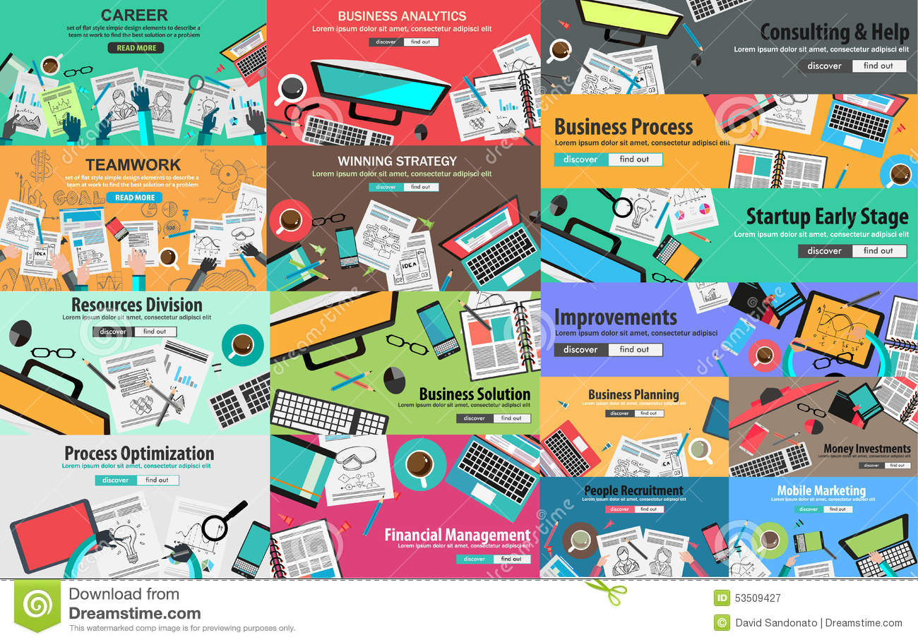 mega pack of design concepts for business strategy stock vector mega pack of design concepts for business strategy