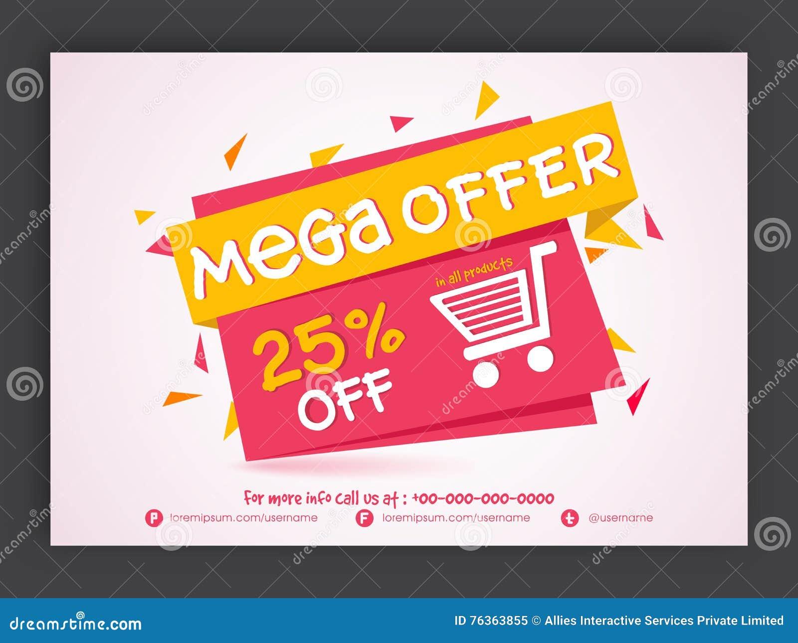 Mega online shopping sale