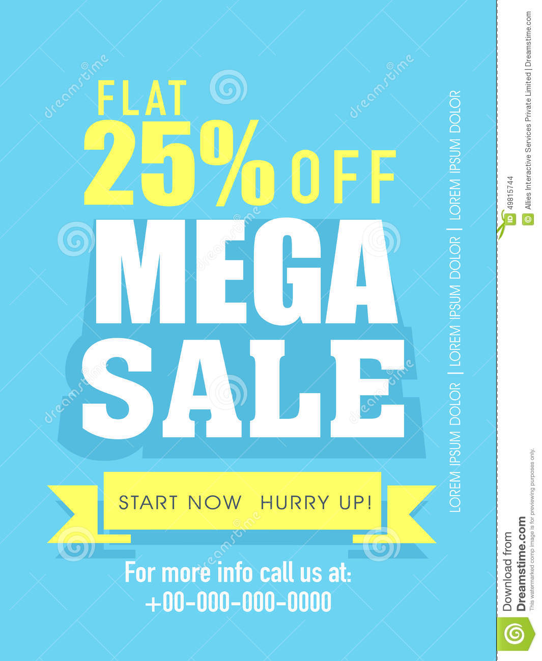 mega flyer banner or template stock illustration image mega flyer banner or template