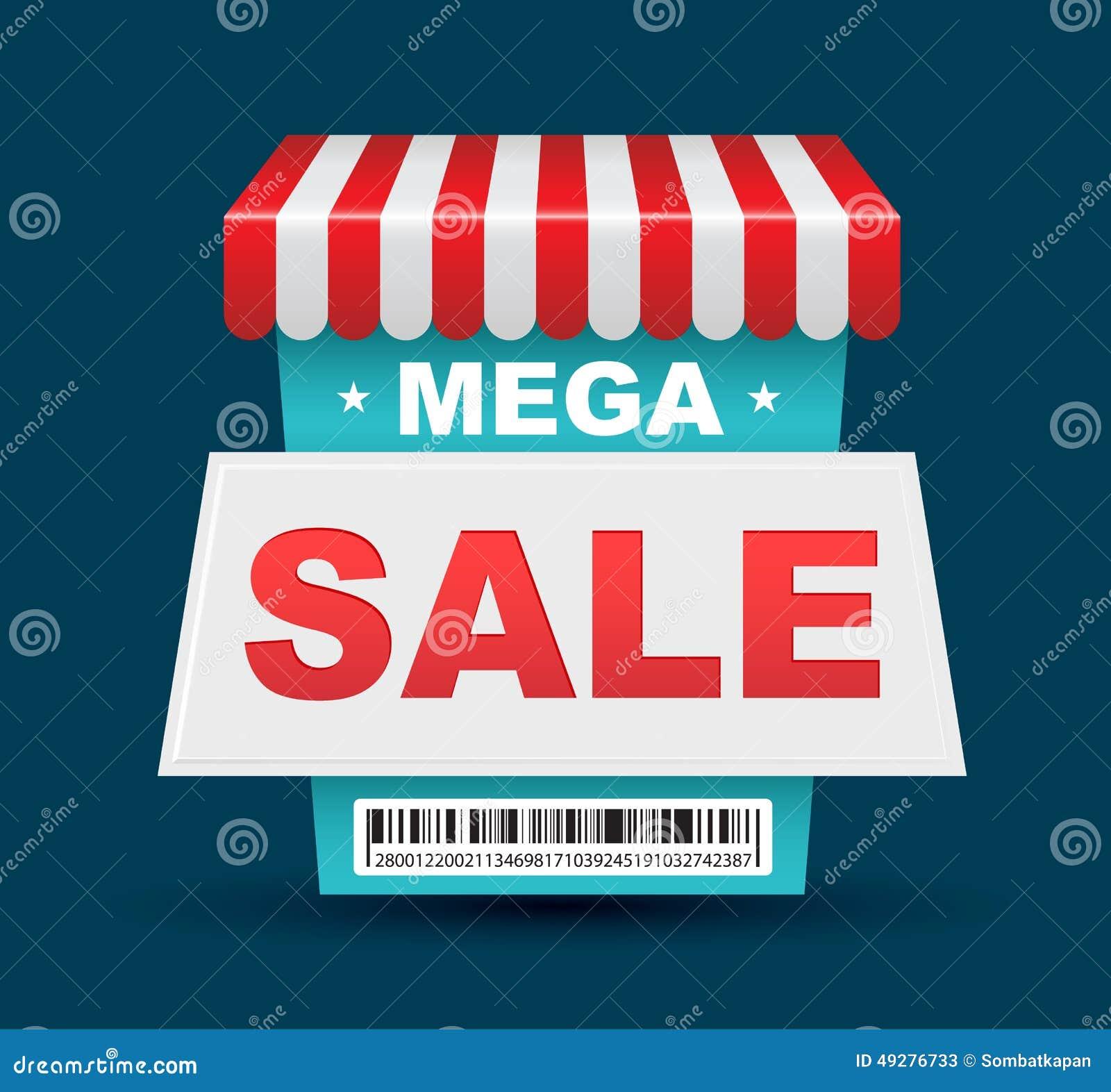 Mega Sale Banner Cartoon Vector   CartoonDealer.com #77266471