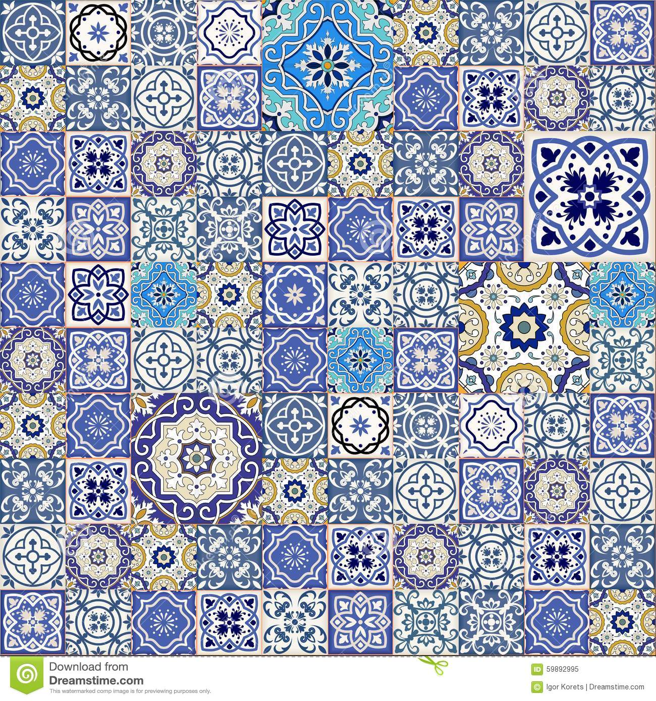 mega seamless patchwork pattern from colorful moroccan