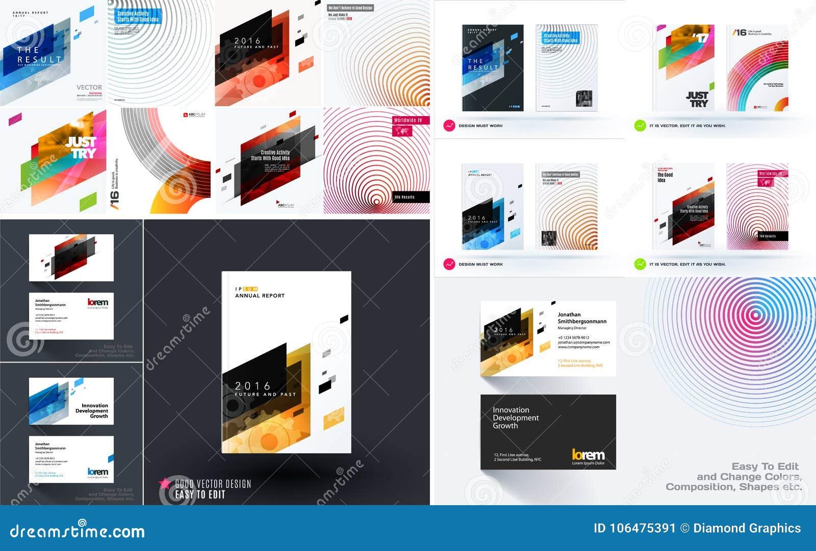 mega set of design of business vector templates stock vector
