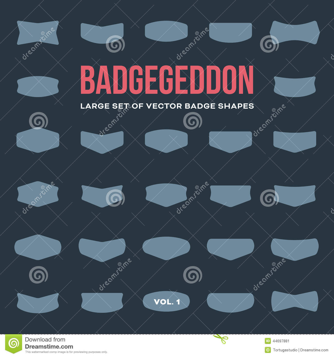 mega set of vintage badge shapes and logo elements stock vector image 44697881