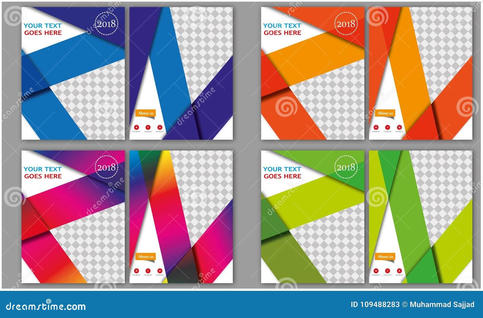 Mega uppsättning av tidskriften för brevhuvud för häfte för broschyr för orientering för bokomslag för årsrapport för affär för m