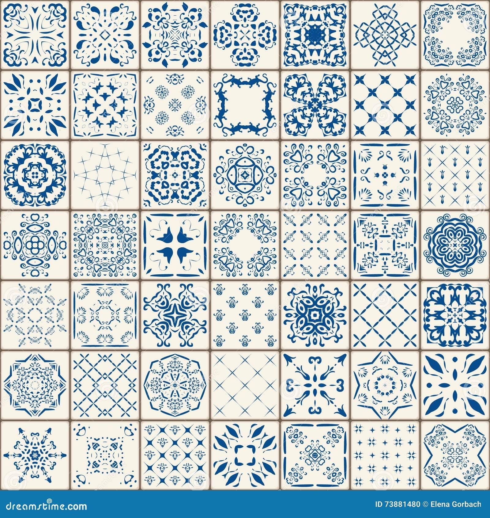 Mega ursnygg sömlös patchworkmodell från färgrika marockanska tegelplattor, prydnader Kan användas för tapeten, påfyllningar, web