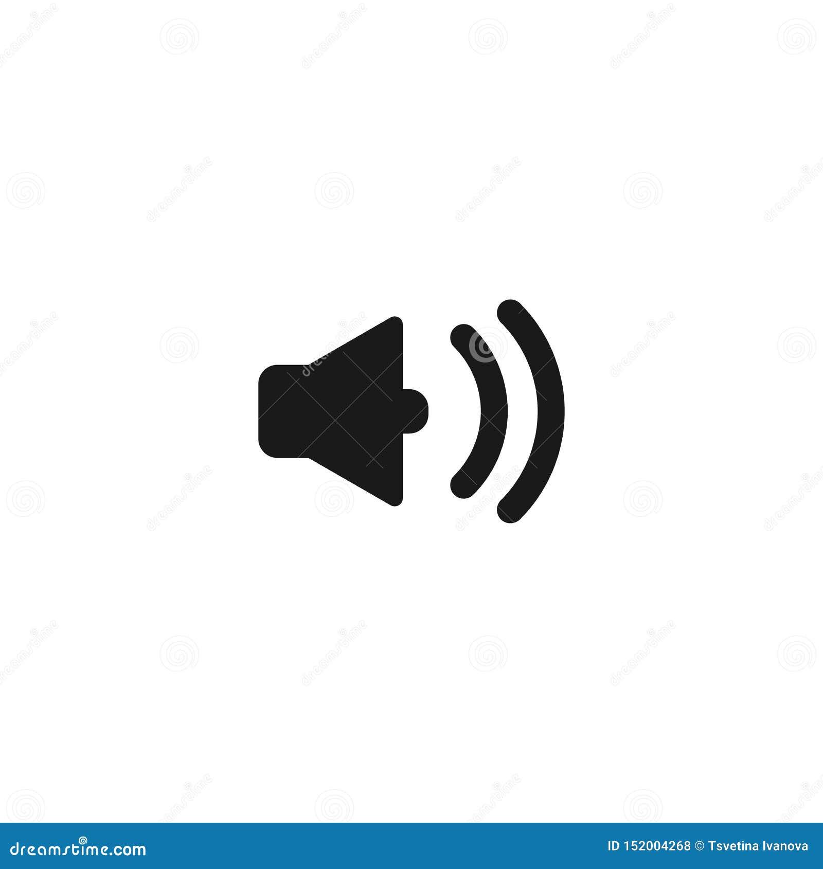 Megaphon, Vektorschwarzikone des Hornsprechers einfache