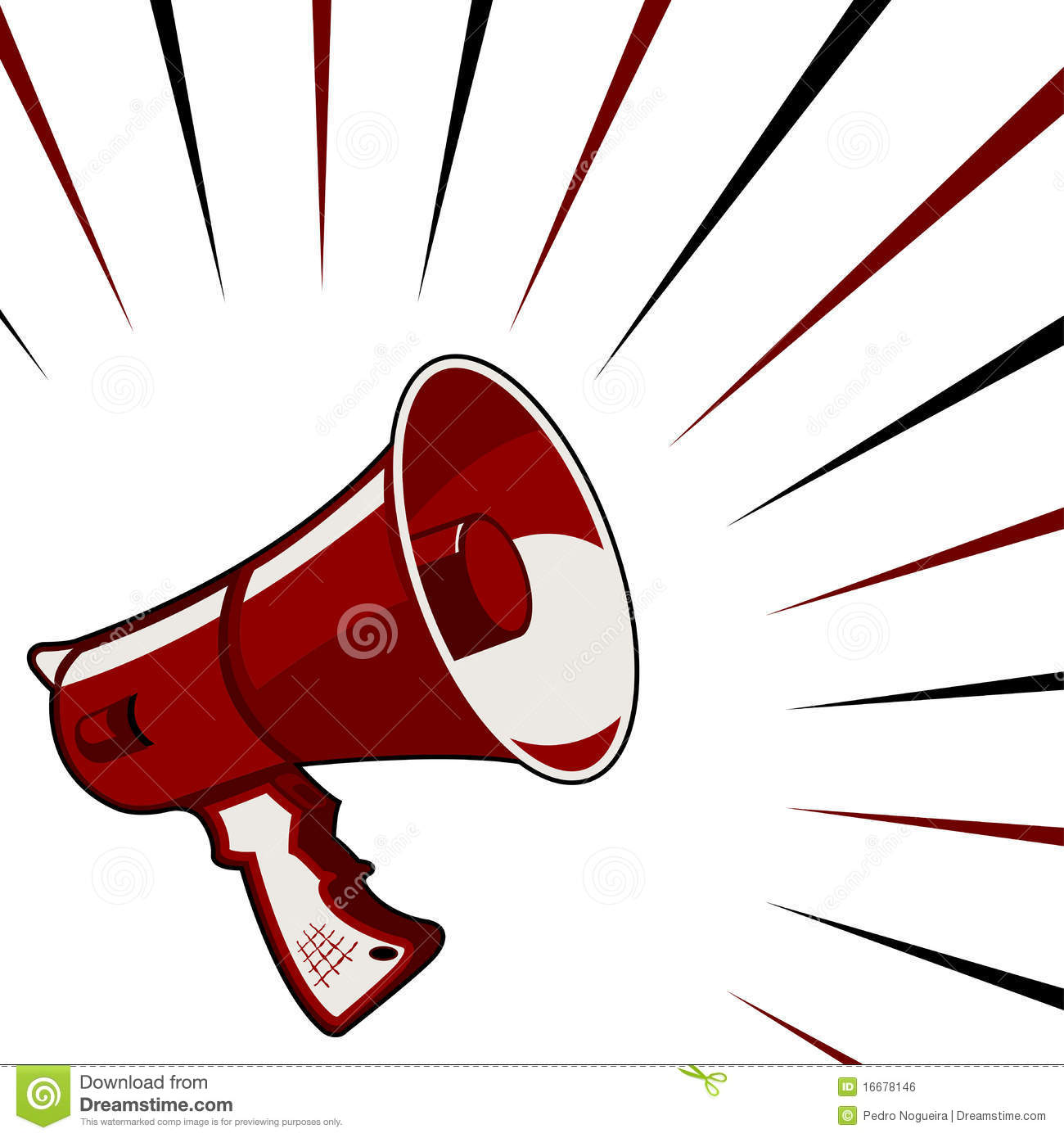 Megaphone Announcement Royalty Free Stock Image - Image: 16678146