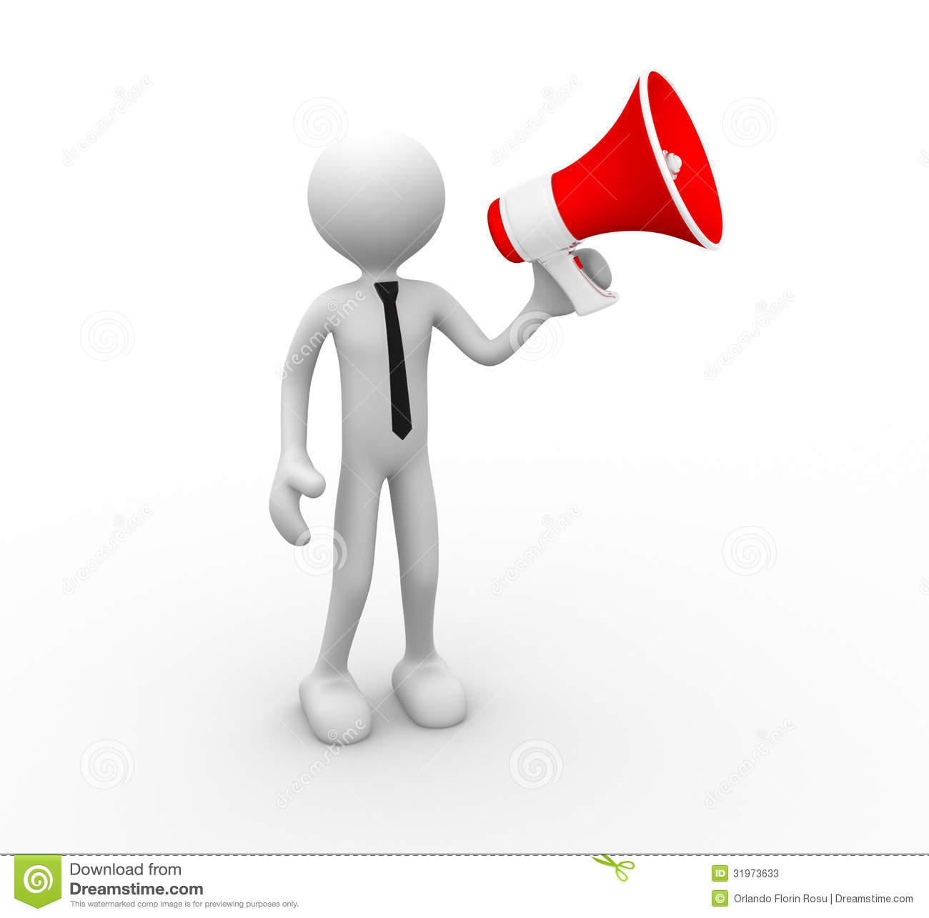 clipart man with megaphone - photo #49