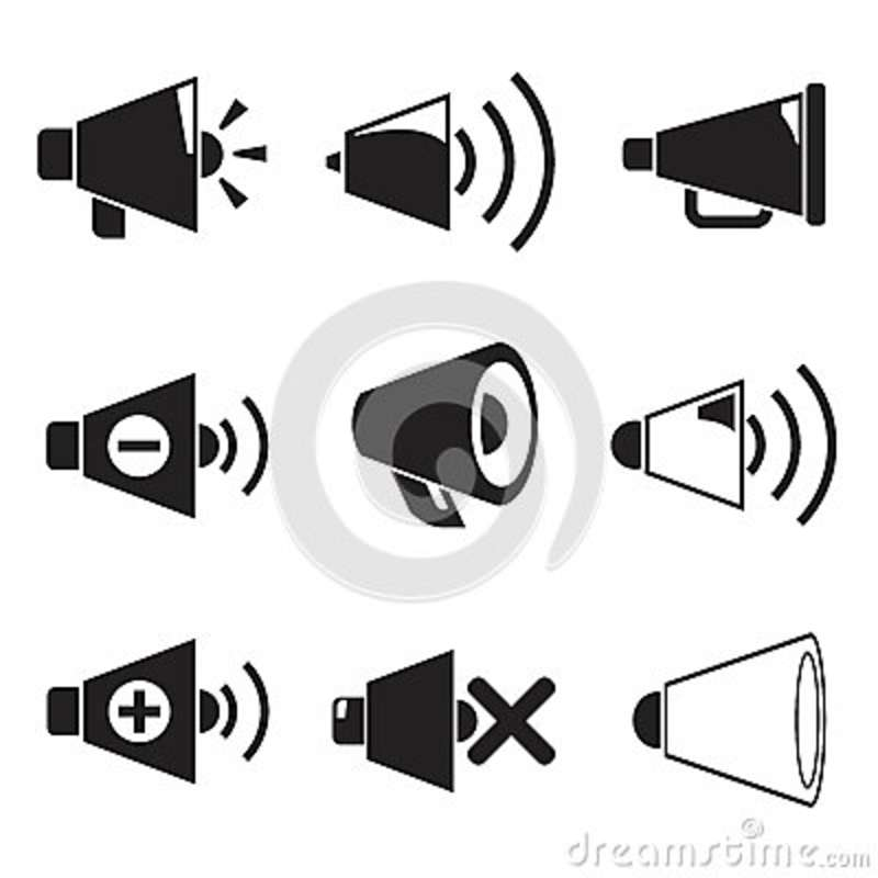 Download Megaphone icons stock illustration. Illustration of abstract - 40849354