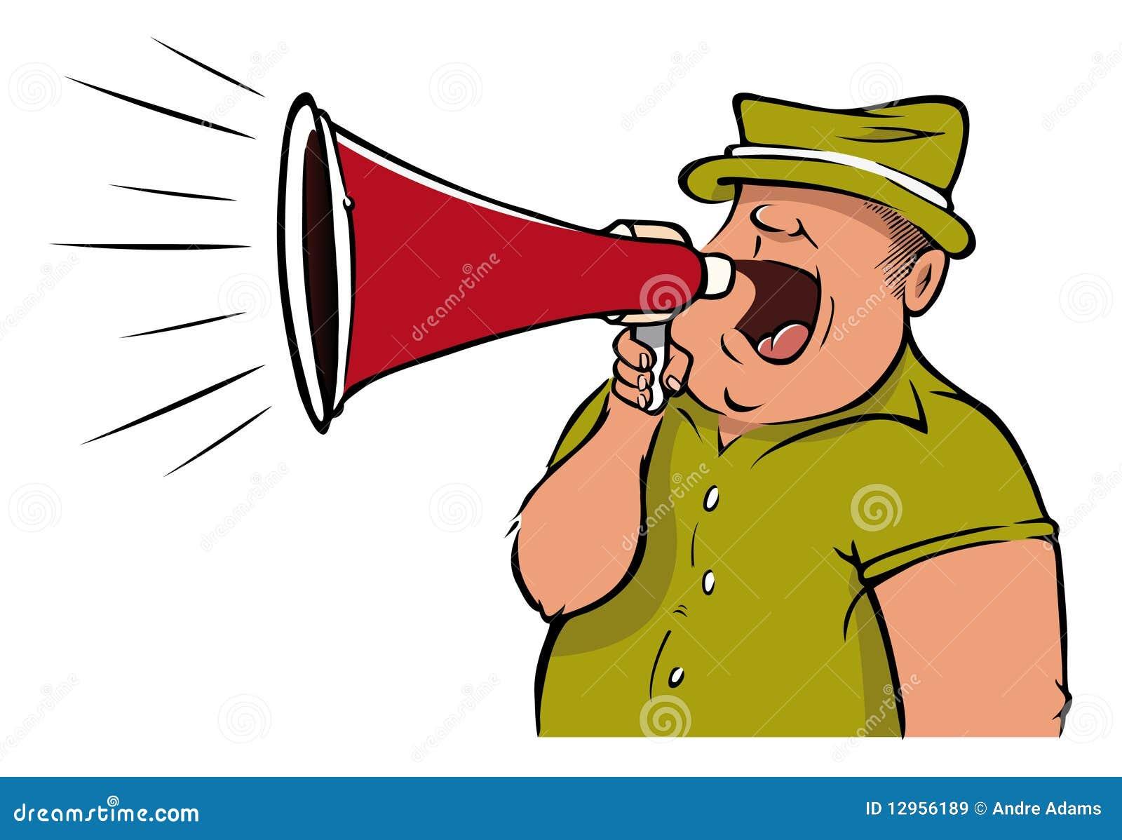 Megaphone man stock vector. Image of scream, sports ...
