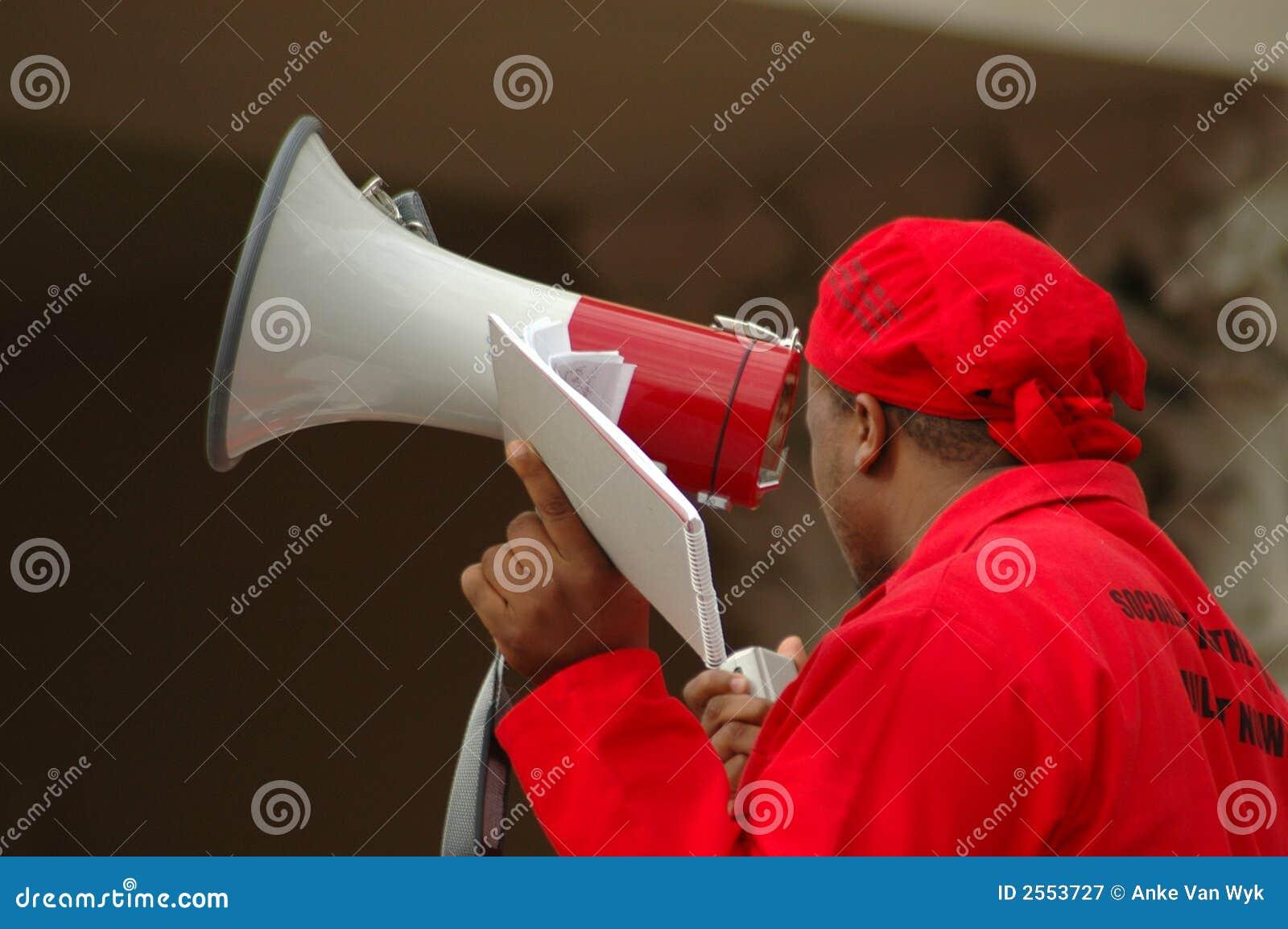 Megaphone Man Editorial Photography - Image: 2553727
