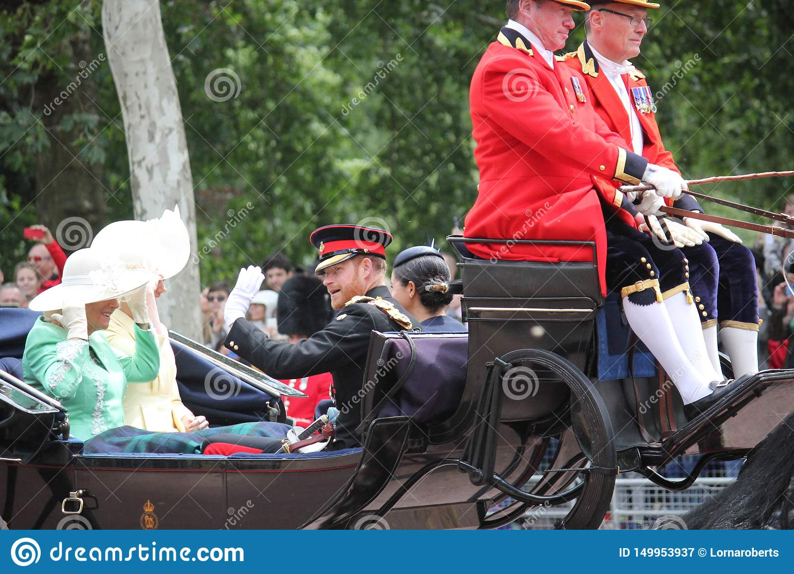 Meghan Markle & απόθεμα του Harry πριγκήπων, Λονδίνο UK, στις 8 Ιουνίου 2019 - πρίγκηπας Harry της Meghan Markle που συγκεντρώνετ