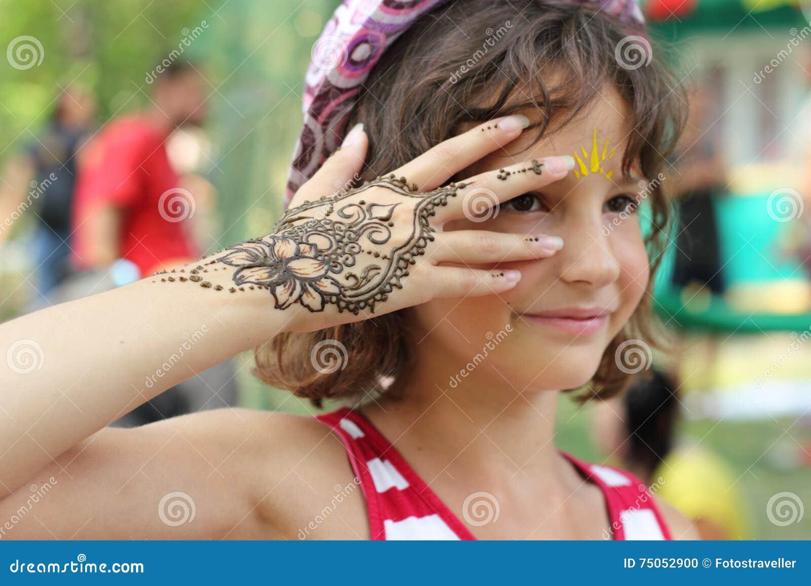 Mehendi Henna Body Painting Stock Photo Image Of Music