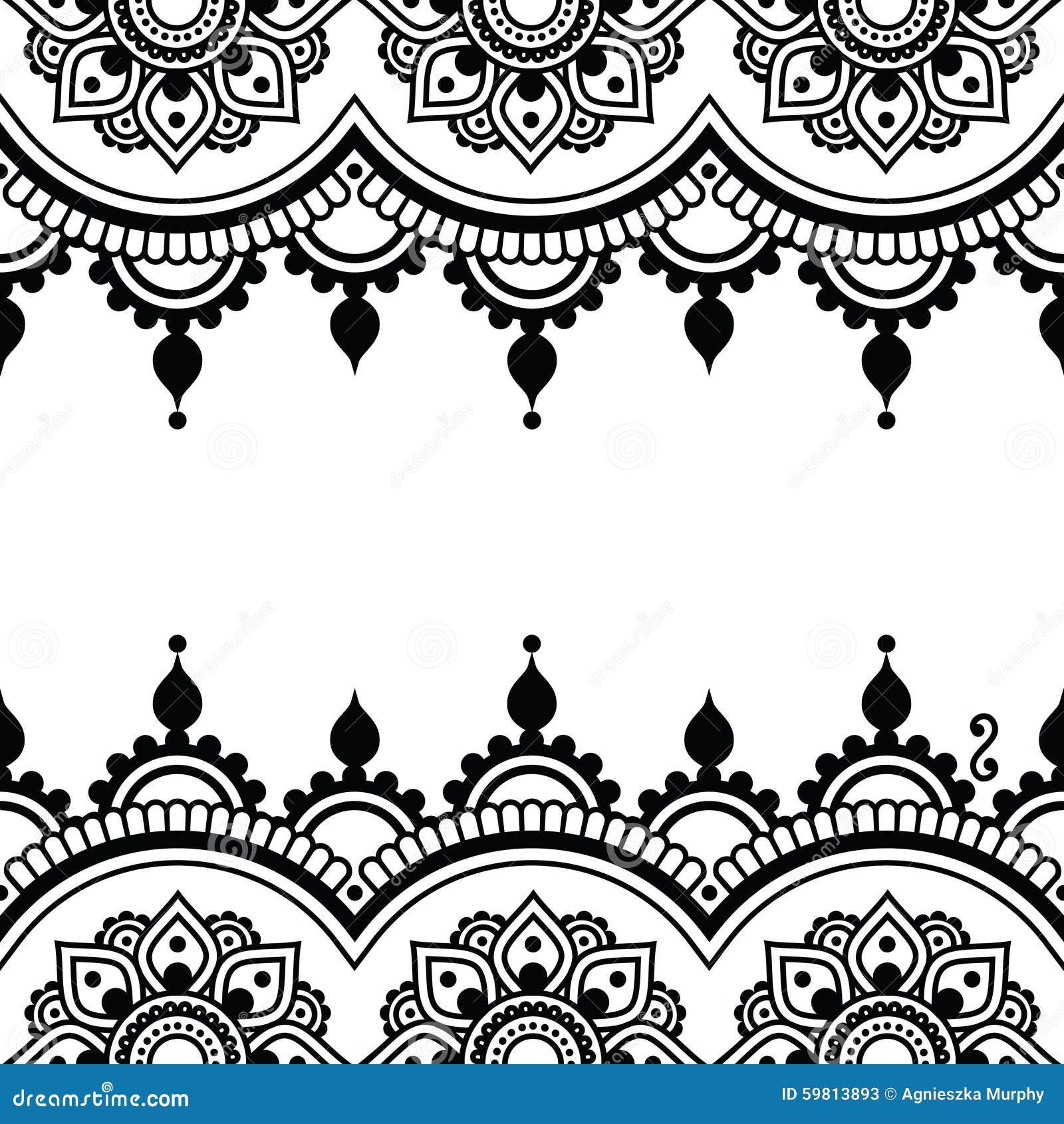 mehndi  conception indienne de tatouage de henn u00e9 carte wedding clipart black and white free wedding clipart black and white png