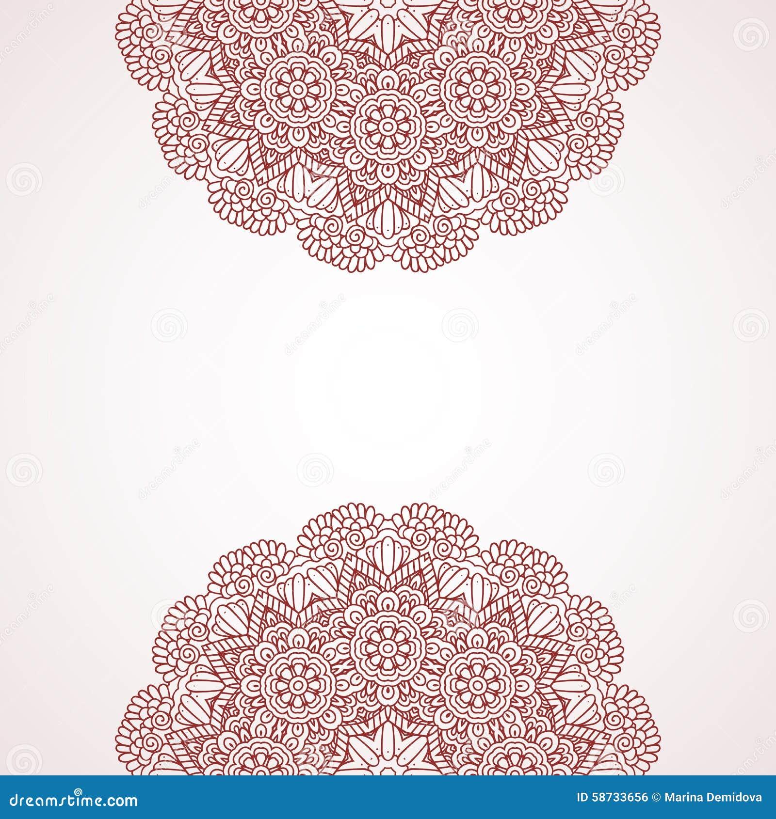 mehndi henna design background stock vector image 58733656
