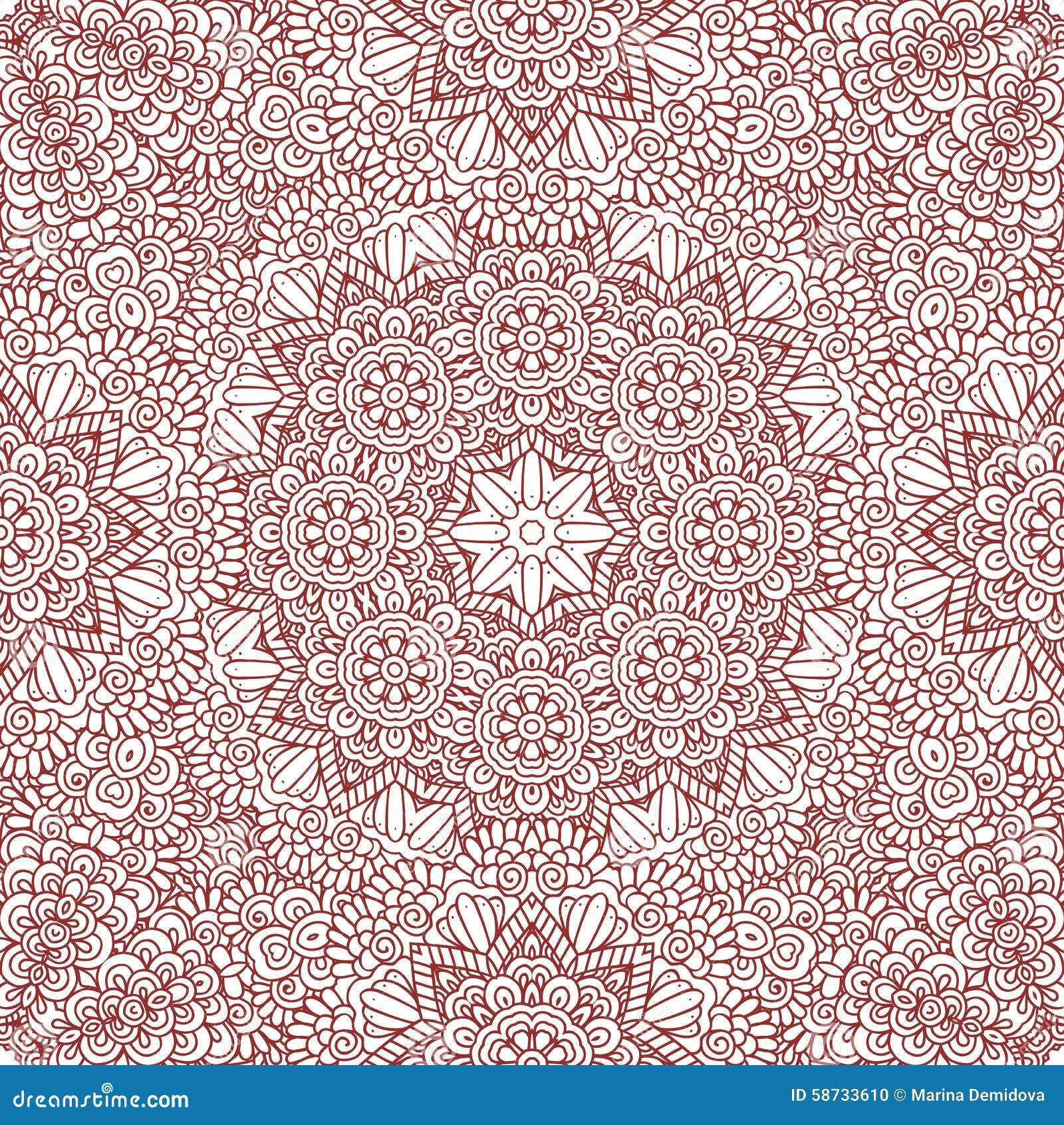 mehndi henna design seamless pattern stock vector image