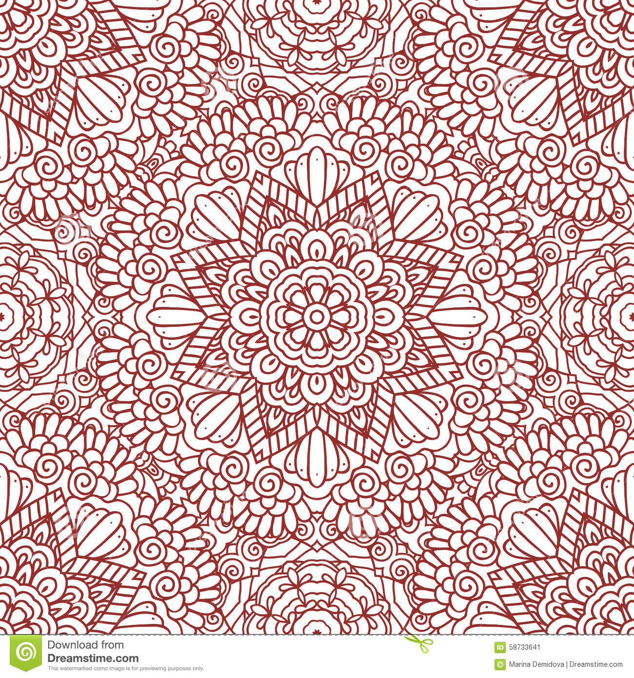 Mehndi Patterns Easy On Paper : Mehndi henna design seamless pattern stock vector image
