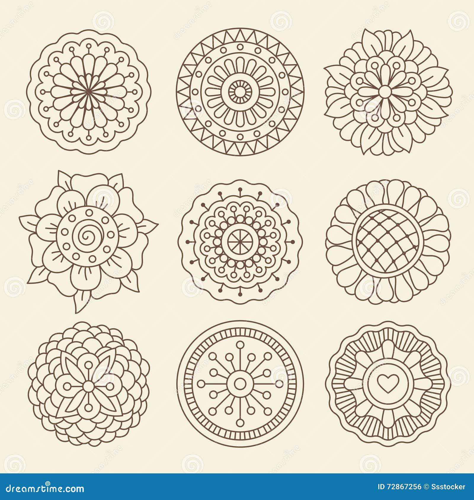 Mehndi Indian Henna Tattoo Flowers Stock Vector - Image