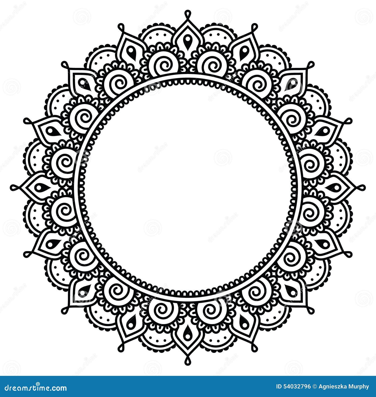 mehndi indian henna tattoo round pattern stock. Black Bedroom Furniture Sets. Home Design Ideas