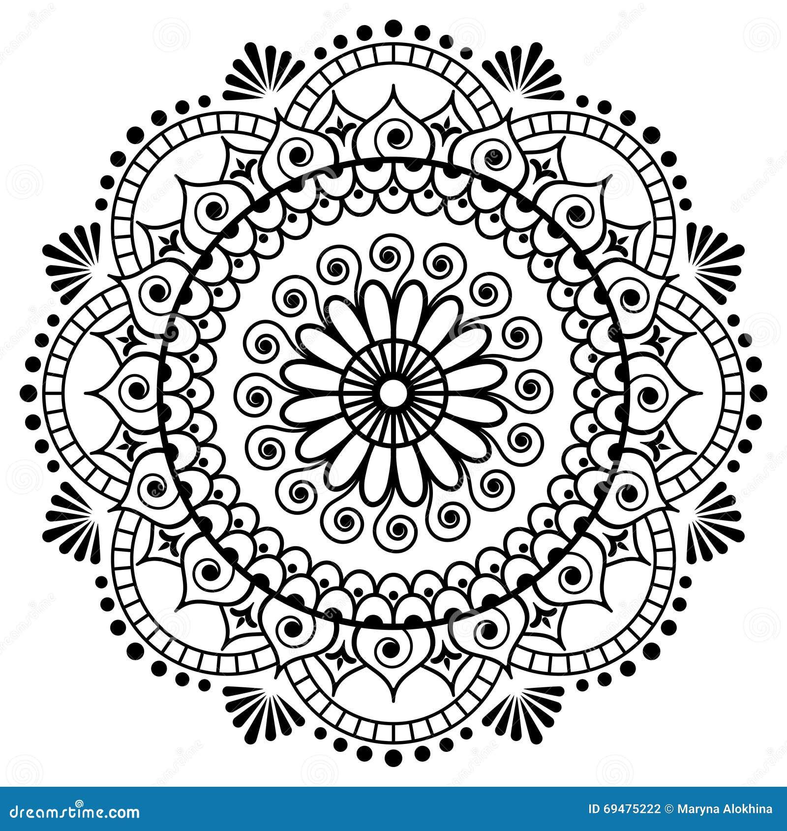 Mehndi Mandala Flower In Indian