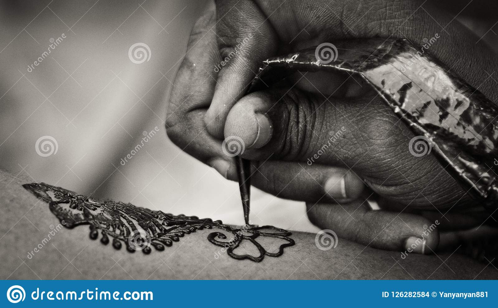 Mehndi Stock Photo Image Of Powdered Body Drawing 126282584