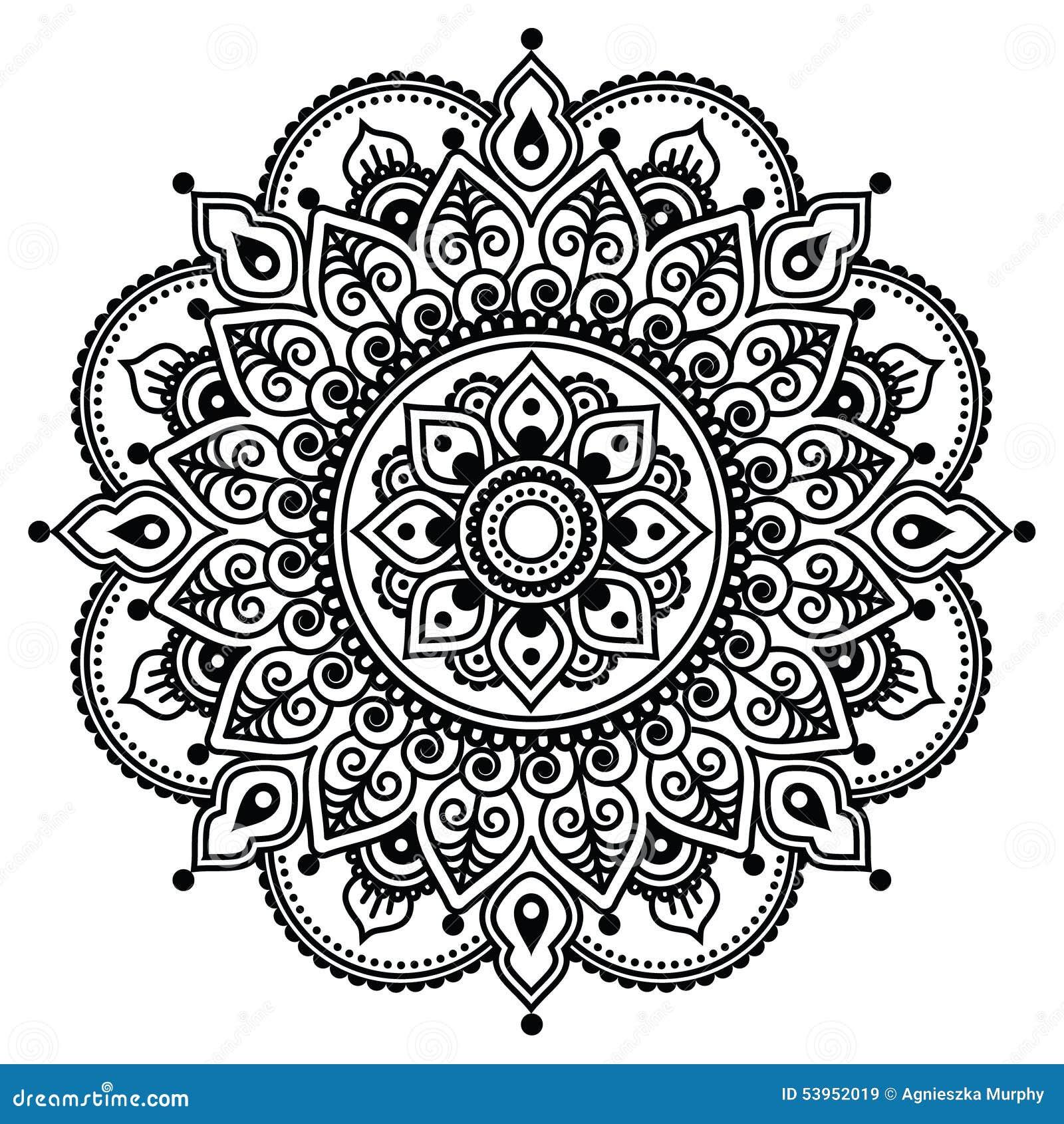 Mehndi, modello indiano del tatuaggio del hennè o fondo