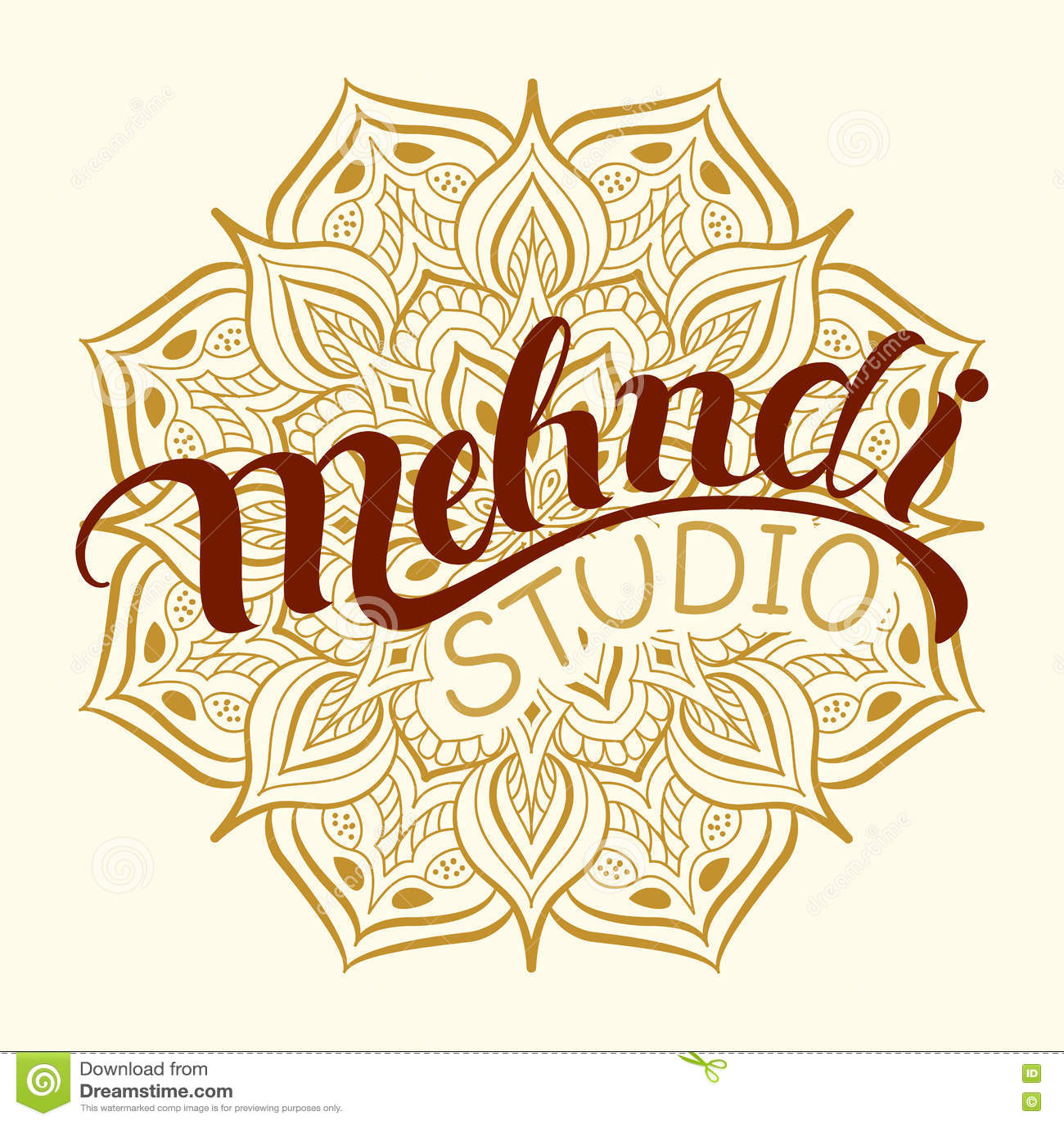 Mehndi Studio Logo Stock Vector Illustration Of Banner 80075591