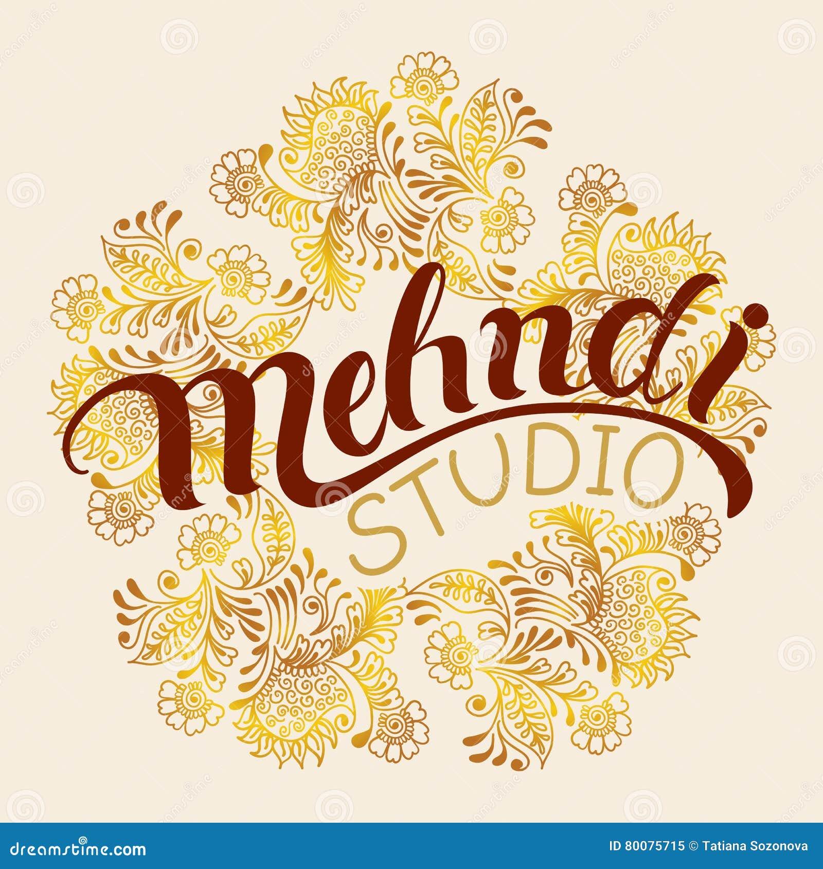 Mehndi Studio Logo Stock Vector Illustration Of Meditation 80075715