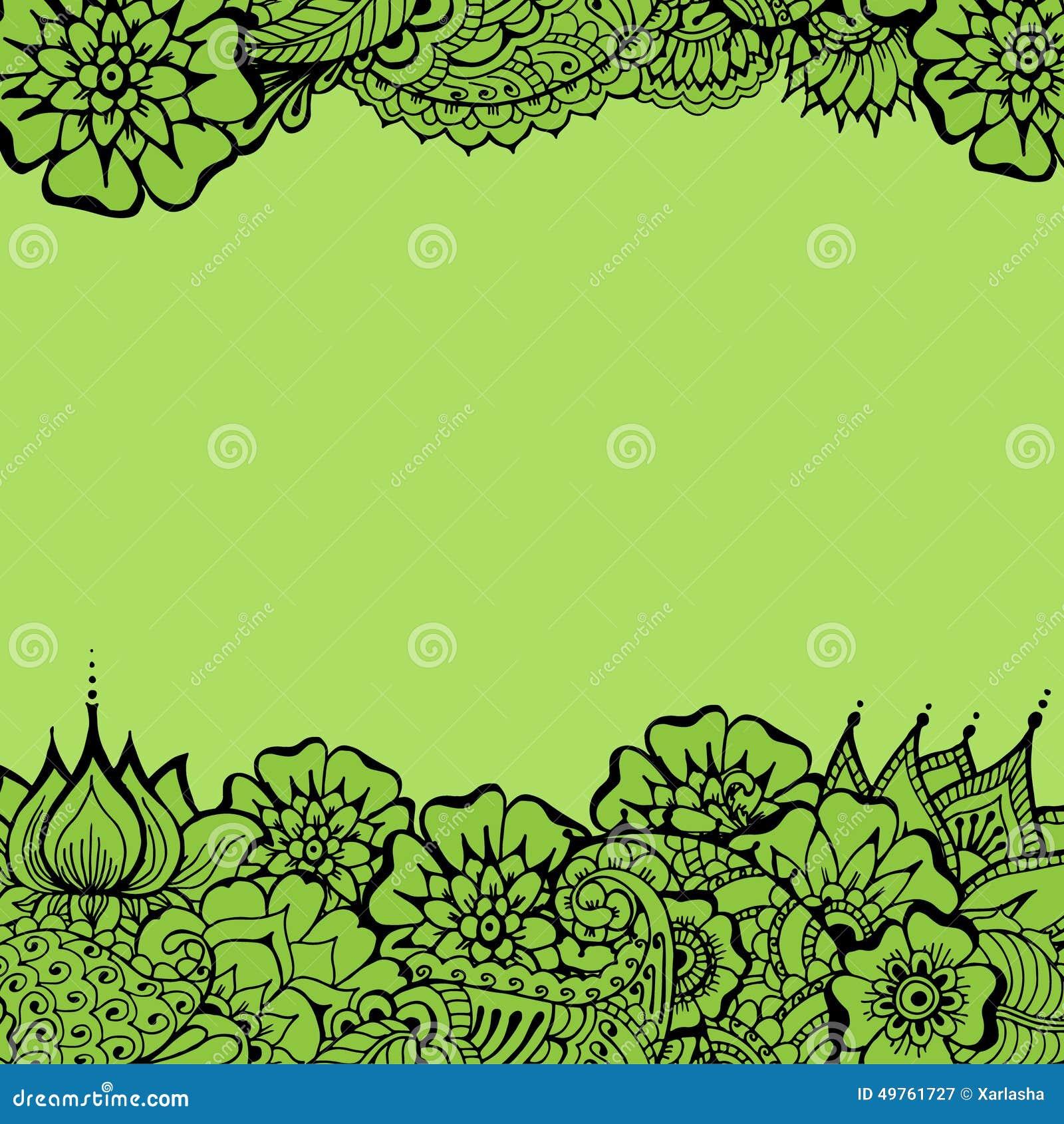 Mehndy Flowers Card Illustration 49761727 Megapixl