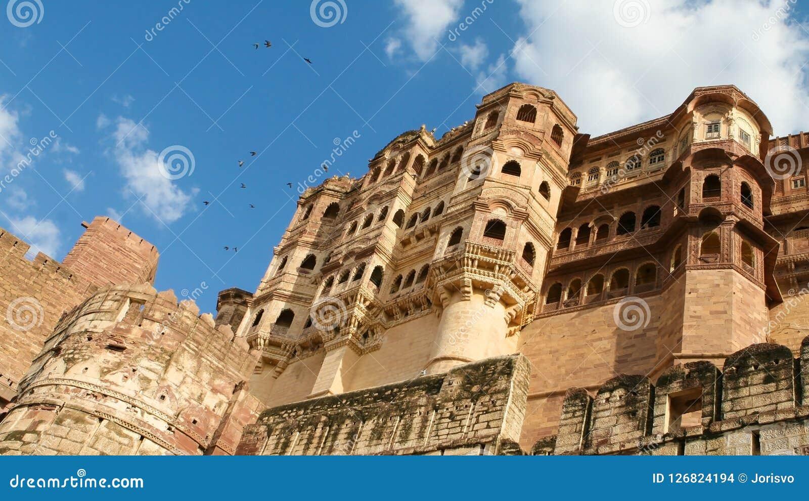 Mehrangarh ή οχυρό Mehran στο Jodhpur, Rajasthan, Ινδία