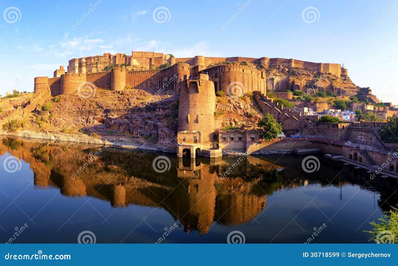 Mehrangarh Fort Jodhpur Rajasthan India Indian Palace Stock Image Image 30718599