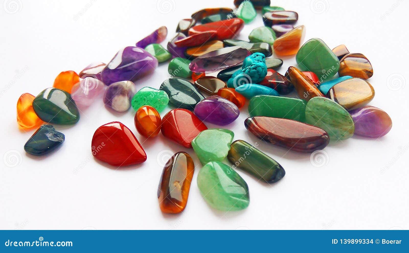 Mehrfache helle farbige halb kostbare Edelsteine und Edelsteine für Dekoration