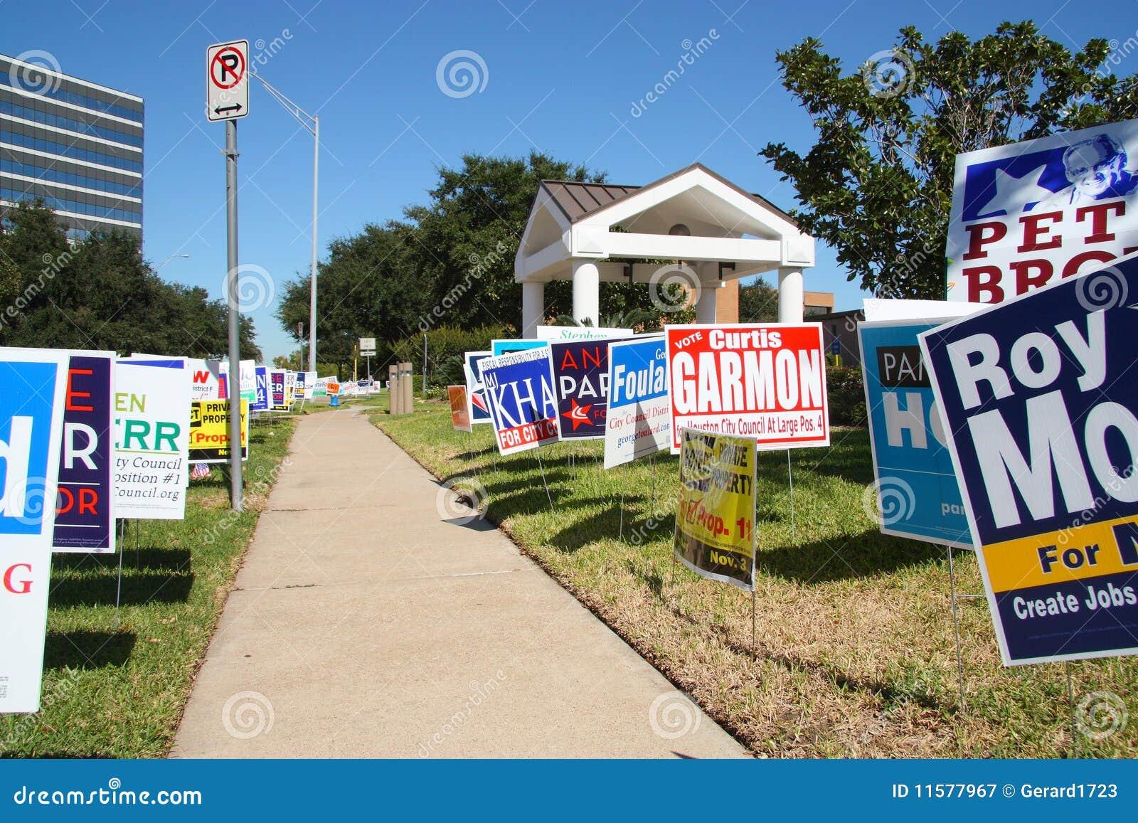 Mehrfache Kampagnenzeichen an wählenstandort