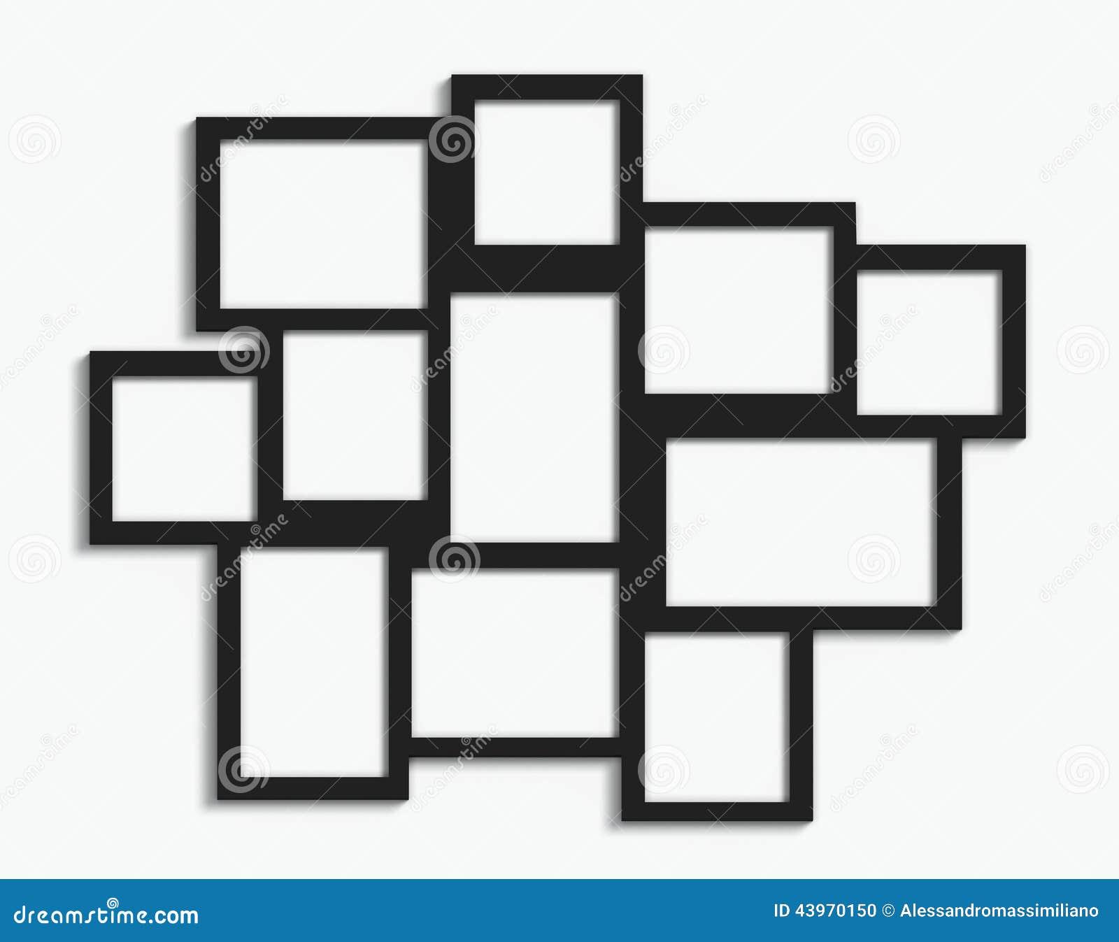 Mehrfache Rahmen stockfoto. Bild von ausstellung, dekoration - 43970150