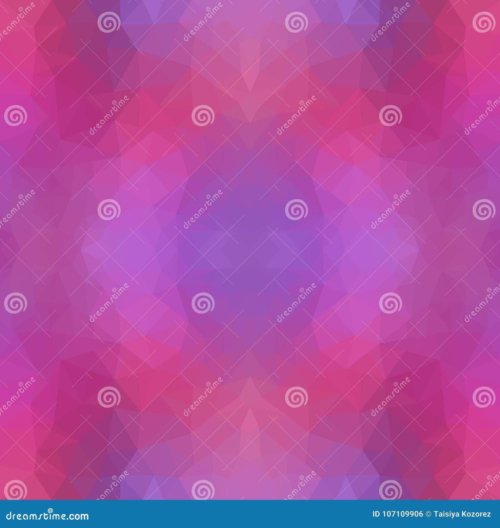 Mehrfarbenpurpur, rosa polygonale Illustration, die aus Dreiecken bestehen Geometrisches Muster in der Origamiart mit