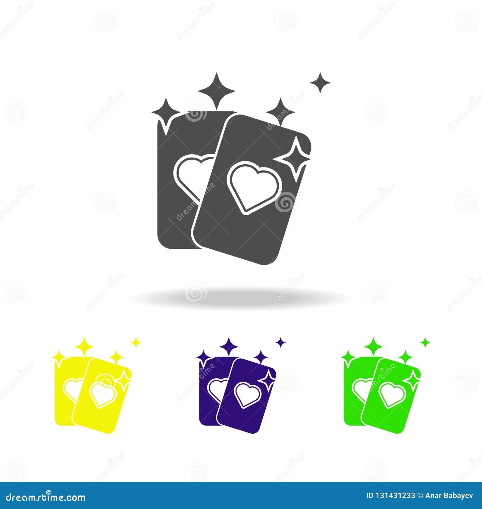 Mehrfarbige Ikone der Wahrsagenkarte Element der populären magischen Ikone Zeichen und Symbolikone können für Netz, Logo, Mobile
