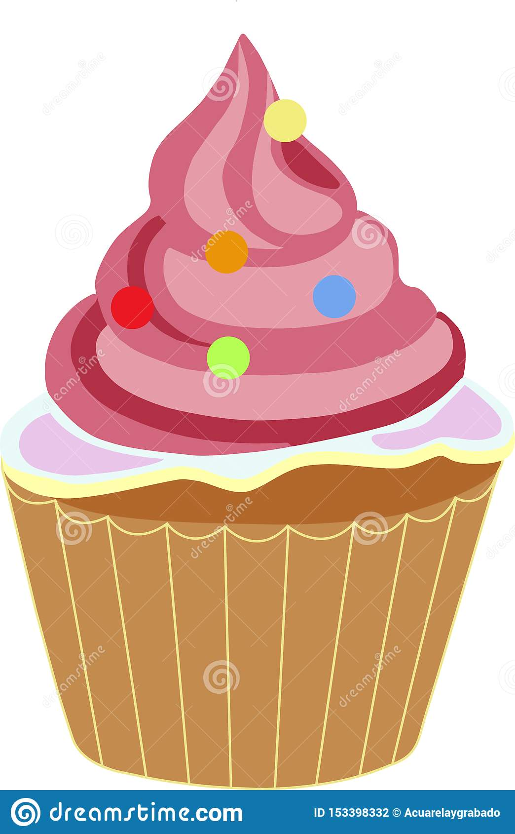 Mehrfarbiger kleiner Kuchen Rose
