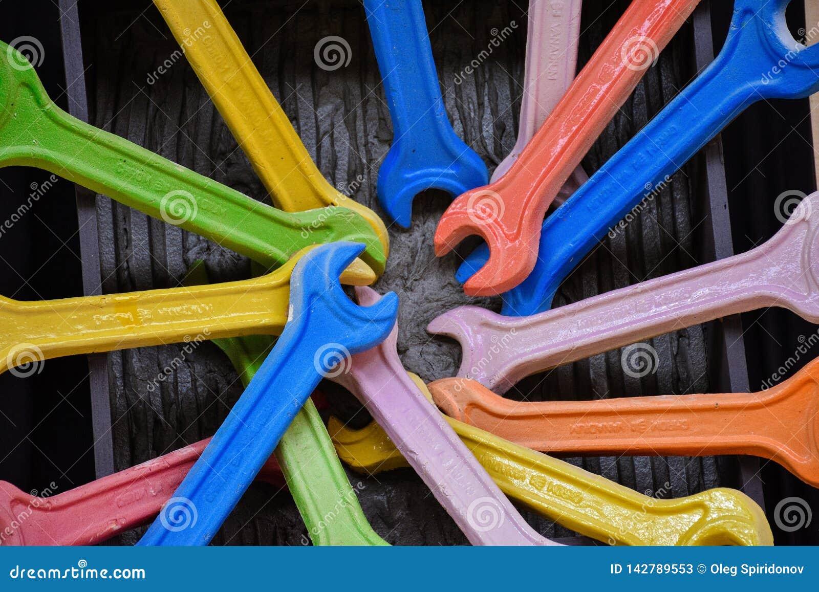 Mehrfarbiger Schlüssel
